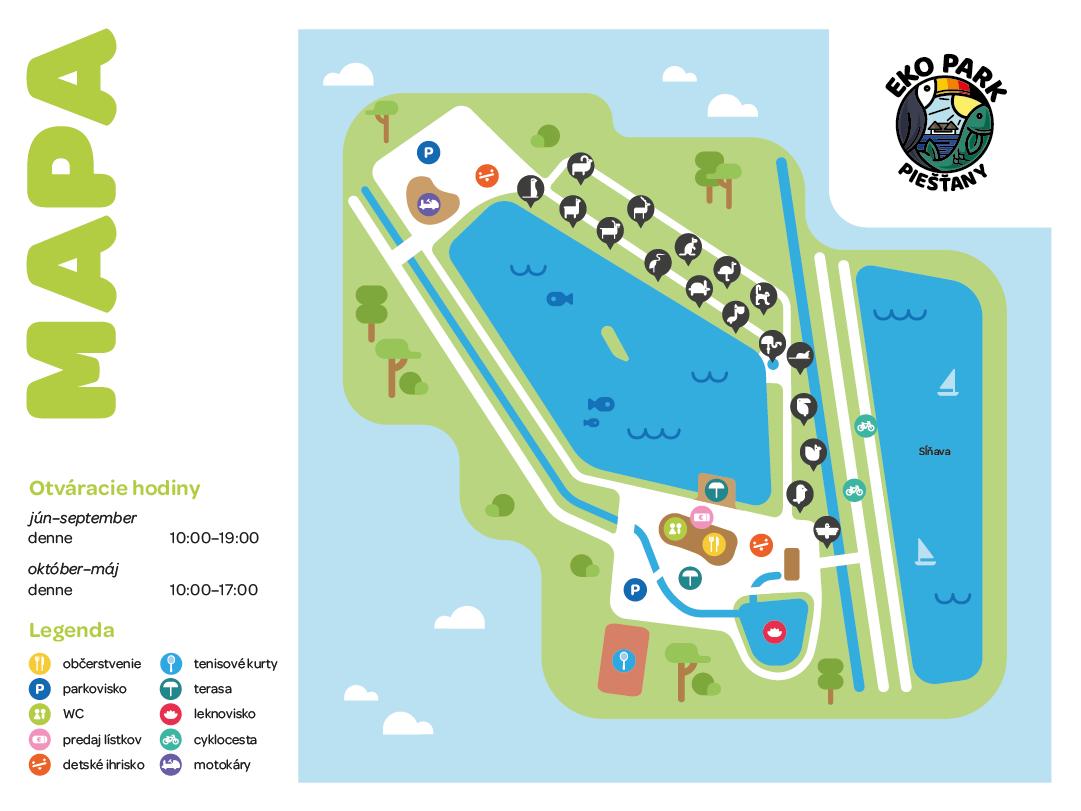mapa zoo ekopark piestany